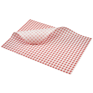 Red Gingham Greaseproof Paper 35 x 25cm
