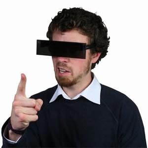 Black Bar Censor Glasses