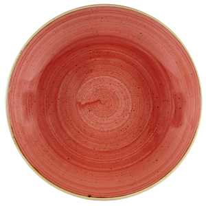 Churchill Stonecast Berry Red Coupe Large Bowl 12inch / 31cm