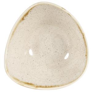 Churchill Stonecast Nutmeg Cream Triangular Bowl 7.25inch / 18.5cm