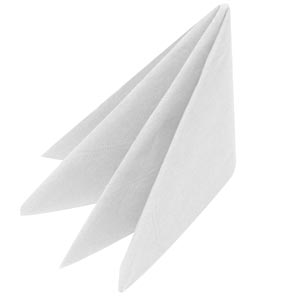 Swantex White Napkins 40cm 3ply