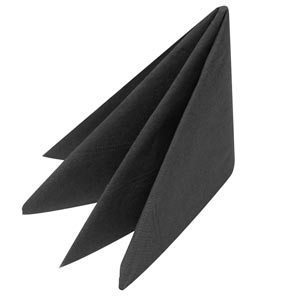 Swantex Black Napkins 40cm 2ply