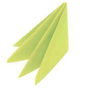Swantex Lime Zest Napkins 33cm 2ply Pack Of 100