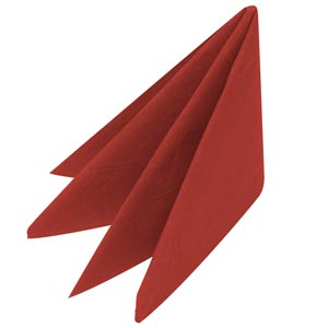 Swantex Red Cocktail Napkins 25cm 2ply