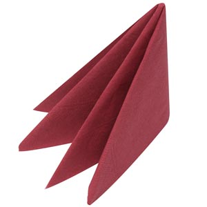 Swantex Burgundy Napkins 33cm 2ply Pack Of 100