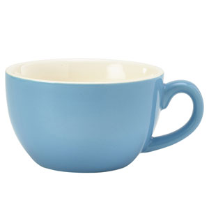 Royal Genware Bowl Shaped Cup Blue 6oz / 170ml