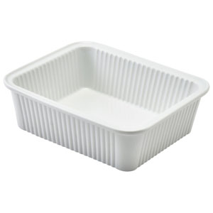 Royal Genware Fluted Rectangular Dish 6.3inch / 16cm