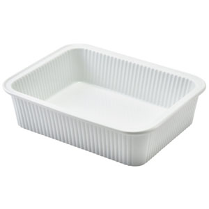 Royal Genware Fluted Rectangular Dish 8inch / 20.5cm