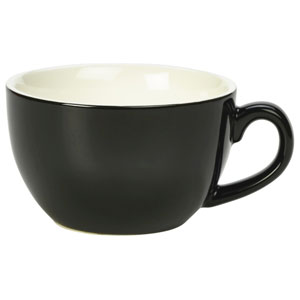 Royal Genware Bowl Shaped Cup Black 6oz / 170ml