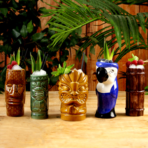 Ceramic Luau Tiki Party Pack