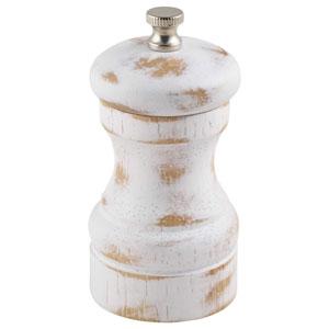 Genware White Wash Salt or Pepper Grinder