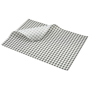 Black Gingham Greaseproof Paper 35 x 25cm