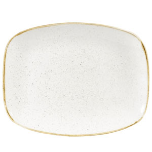 Churchill Stonecast Chefs Oblong Plate Barley White 10.2inch / 26.1cm