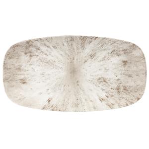 Studio Prints Stone Agate Grey Oblong Chefs Plate 13.75inch / 35.5cm