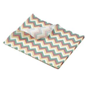 Multicoloured Chevron Print Greaseproof Paper 25 x 20cm