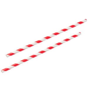 Red & White Paper Straws 9inch