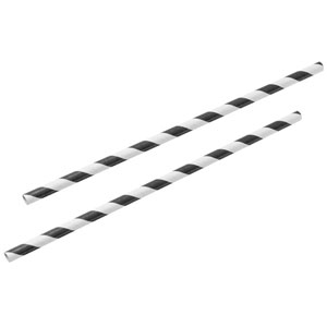 Black & White Paper Straws 8inch