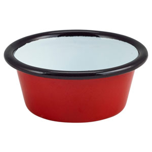 Enamel Ramekin Red and Black 3.2oz / 90ml
