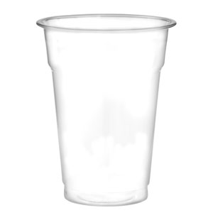 Recyclable PET Half Pint to Rim Tumbler 10oz / 285ml