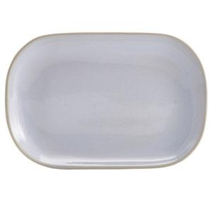 """Terra Stoneware Rustic White Rectangular Plates 9.4"""" / 24cm"""