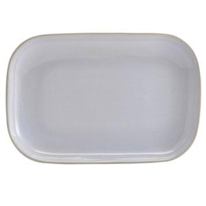 """Terra Stoneware Rustic White Rectangular Plates 11.4"""" / 29cm"""