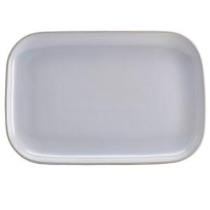"""Terra Stoneware Rustic White Rectangular Plates 13.6"""" / 34.5cm"""