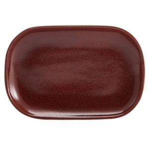 """Terra Stoneware Rustic Red Rectangular Plates 9.4"""" / 24cm"""