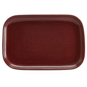 """Terra Stoneware Rustic Red Rectangular Plates 13.6"""" / 34.5cm"""