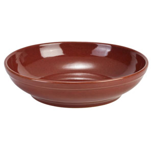 """Terra Stoneware Rustic Red Coupe Bowls 10.8"""" / 27.5cm"""