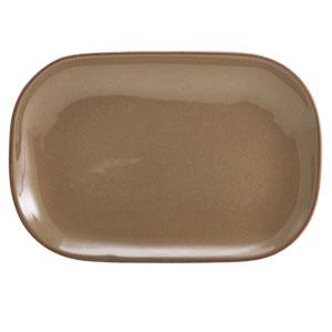 "Terra Stoneware Rustic Brown Rectangular Plates 9.4"" / 24cm"