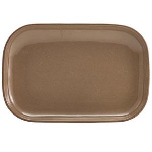 "Terra Stoneware Rustic Brown Rectangular Plates 11.4"" / 29cm"