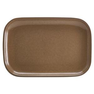"Terra Stoneware Rustic Brown Rectangular Plates 13.6"" / 34.5cm"