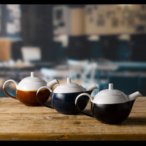 Churchill Monochrome Onyx Black Beverage Pot 15oz / 426ml