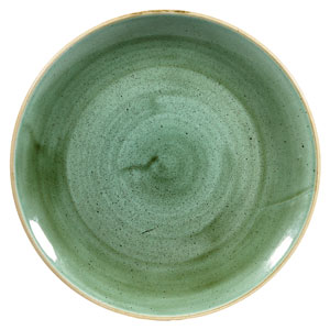 "Churchill Stonecast Samphire Green Coupe Plate 10.25"" / 26cm"