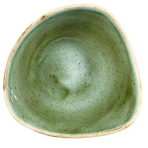 "Churchill Stonecast Samphire Green Triangular Bowl 6"" / 15.3cm"