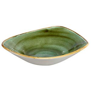 "Churchill Stonecast Samphire Green Triangular Bowl 9.25"" / 23.5cm"