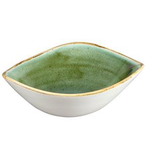 "Churchill Stonecast Samphire Green Triangular Bowl 7.25"" / 18.5cm"
