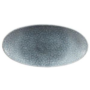 "Studio Prints Raku Chefs Oval Plates Topaz Blue 11.7"" / 29.9cm"