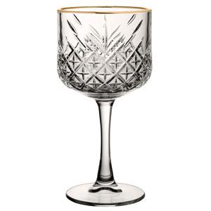 Timeless Vintage Cocktail Glasses Gold Rim 19.25oz / 550ml