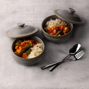 "Churchill Stonecast Lidded Stew Pot Peppercorn Grey 5.5"" / 14cm"