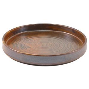 "Terra Porcelain Presentation Plates Rustic Copper 8.3"" / 21cm"