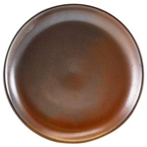 """Terra Porcelain Coupe Plates Rustic Copper  9.4"""" / 24cm"""