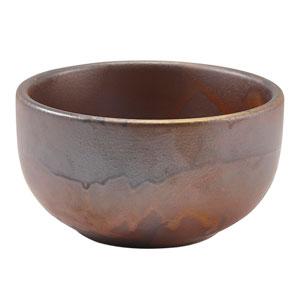 """Terra Porcelain Round Bowls Rustic Copper 4.5"""" / 11.5cm"""