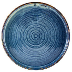 "Terra Porcelain Presentation Plates Aqua Blue 10.2"" / 26cm"
