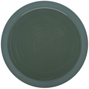 "Bahia Round Dinner Plates Green Clay 9"" / 23cm"