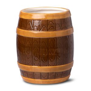 Ceramic Rum Barrel Tiki Mug 22.3oz / 635ml