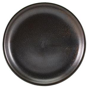 """Terra Porcelain Coupe Plates Black 10.8"""" / 27.5cm"""