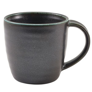 Terra Porcelain Mugs Black 11.25oz / 320ml