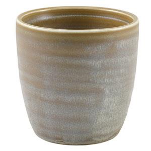Terra Porcelain Chip Cups Matt Grey 11.25oz / 320ml