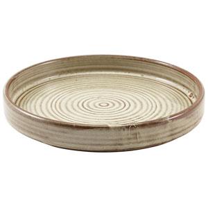 "Terra Porcelain Presentation Plates Grey 7"" / 18cm"